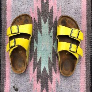 Super Vibrant 💛Yellow💛 Birkenstock Sandals